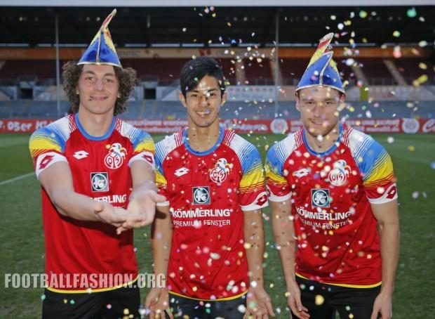 "Mainz 05 2016 Lotto ""Carnival"" Soccer Jersey, Football Kit, Shirt, Trikot, Fastnachtstrikot"