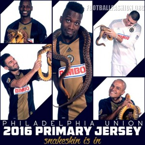 Philadelphia Union Snake-Inspired 2016 adidas Home Soccer Jersey, Shirt, Football Kit, Camiseta de Futbol