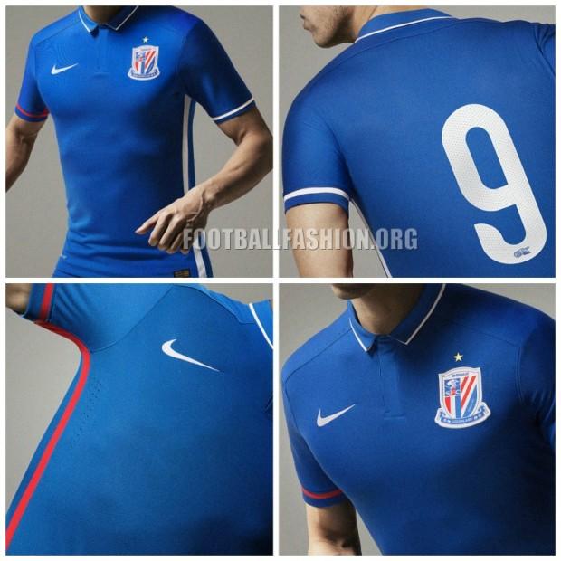 Shanghai Shenhua FC 2016 Nike Home Football Kit, Soccer Jersey, Shirt