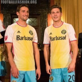 """Columbus Crew SC 2016 """"For Columbus"""" adidas Away Soccer Jersey, Football Kit, Shirt, Camiseta de Futbol MLS"""