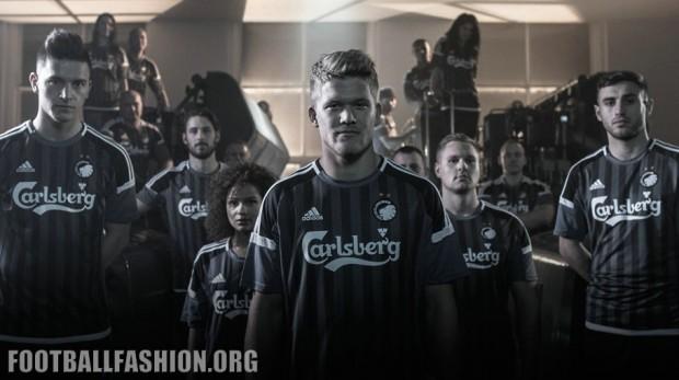FC Copenhagen 2015 2016 adidas Third Football Kit, Soccer Jersey, Shirt, Spilletrøje, København