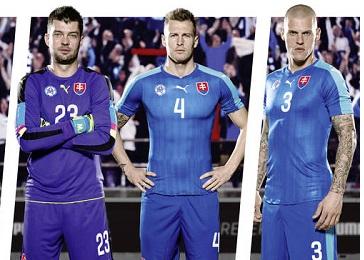 Slovakia EURO 2016 PUMA Blue Away Football Kit, Soccer Jersey, Shirt, nové dresy slovenskej