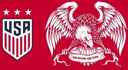 US Soccer 2016 USA National Team Crest, Badge, Logo