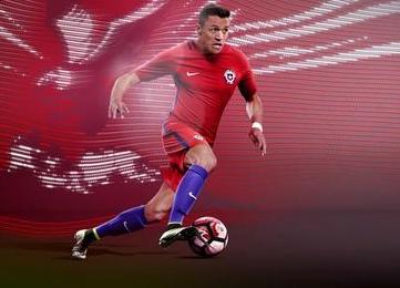 Chile 2016 Copa América Nike Home and Away Football Kit, Shirt, Soccer Jersey, Camiseta de Futbol 2017, Playera