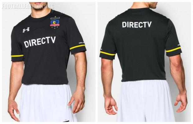 Colo-Colo 2016 Under Armour Black Away Football Kit, Soccer Jersey, Camiseta de Futbol, Equipacion, Piel, Indumentaria