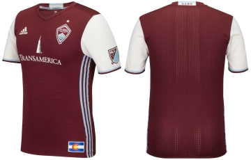Colorado Rapids 2016 adidas Home Soccer Jersey, Football Kit, Shirt, Camiseta de Futbol MLS