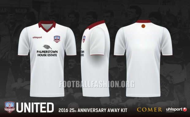 Galway United FC 2016 Uhlsport Home and Away Football Kit, Soccer Jersey, Shirt