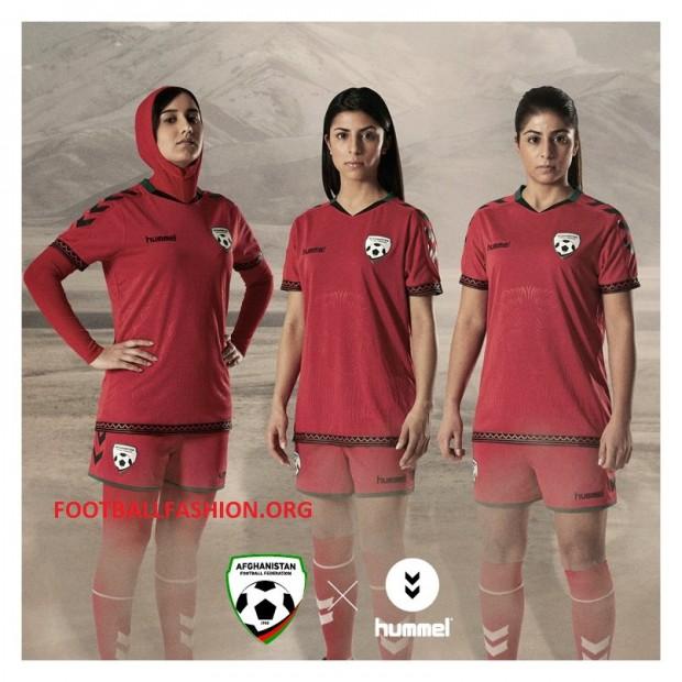 hummel Presents Afghanistan 2016 Football Kit with Hijab, Soccer Jersey, Afghan Shirt