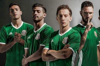Mexico 2016 Copa América Centenario adidas Home Soccer Jersey, Football Kit, Shirt, Camiseta Verde del Rumbo Mundial, Piel, Playera