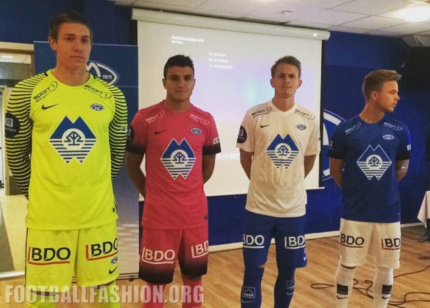 Molde FK 2016 Nike Home, Away and Third Football Kit, Shirt, Soccer Jersey, Nye Drakt