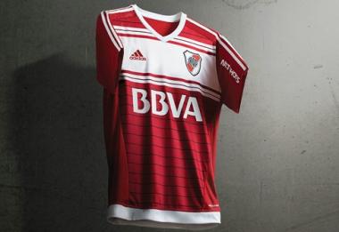 River Plate 2016 adidas Away Football Kit, Soccer Jersey, Shirt, Camiseta Alternativa, Equipacion, Playera Roja