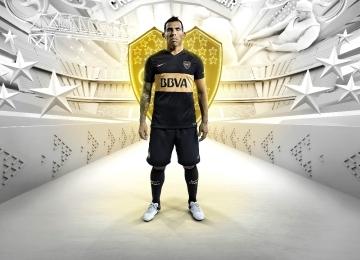 Boca Juniors 2016 Nike Black Third Soccer jersey, Football Kit, Camiseta de Futbol Tercera Negra, Equipacion, Piel, Playera