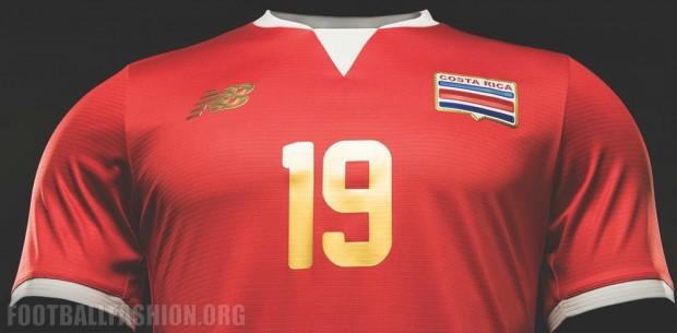 Costa Rica 2016 Copa América New Balance Soccer Jersey, Football Kit, Shirt, Camiseta de Futbol
