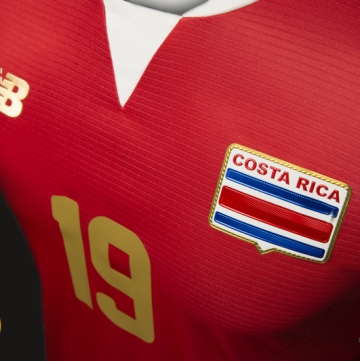 Costa Rica 2016 Copa América New Balance Soccer Jersey, Football Kit, Shirt, Camiseta de Futbol