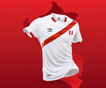 Peru 2016 Copa América Centenario Umbro Home Soccer Jersey, Football Shirt, Shirt, Camiseta de Futbol