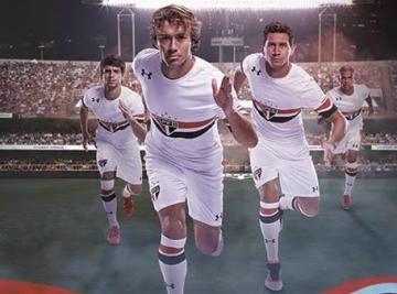 São Paulo FC 2016 2017 Under Armour Home Football Kit, Soccer Jersey, Shirt, Camisa do Futebol