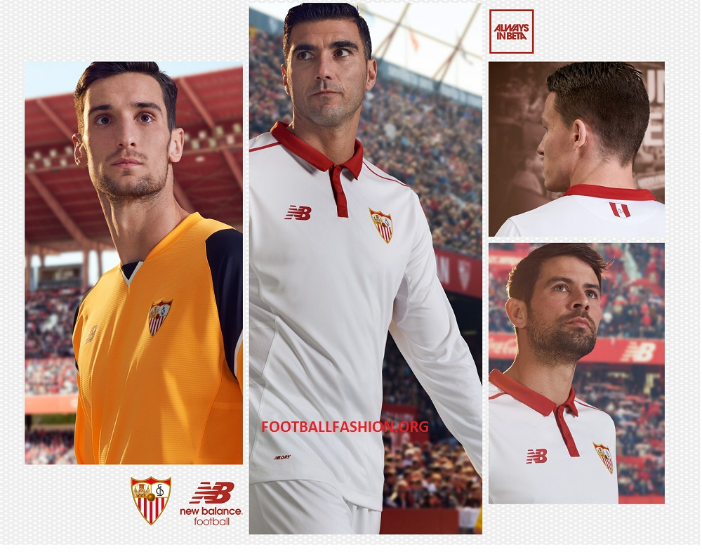 Sevilla Fc 2016 17 New Balance Home Kit Football Fashion