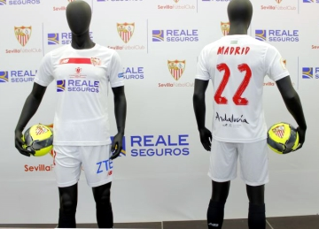 Sevilla FC 2016 Copa del Rey Final New Balance Football KIt, Soccer Jersey, Shirt, Camiseta del Futbol