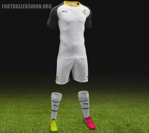 Ghana 2016 2017 PUMA Home Football Kit, Soccer Jersey Shirt