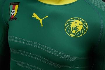 Cameroon 2016 2017 PUMA Home Soccer Jersey, Shirt, Football Kit, Maillot Cameroun