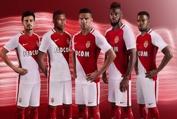 AS Monaco 2016 2017 Nike Home Football KIt, Soccer Jersey, Shirt, Maillot