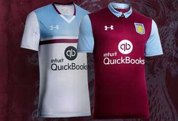 3825655c0cd Aston Villa FC 2016 17 Under Armour Home and Away Kits - FOOTBALL ...