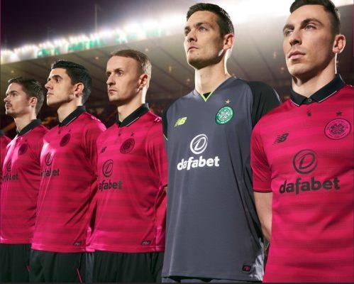 Celtic Football Club 2016 2017 Pink New Balance Third Kit, Soccer Jersey, Shirt