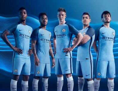 Manchester City 2016 17 Nike Home Football Kit, Soccer Jersey, Shirt, Maillot, Camisa, Camiseta, Trikot