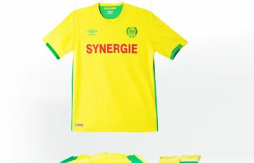 FC Nantes 2016 2017 Umbro Home and Away Football Kit, Soccer Jersey, Shirt, Maillot