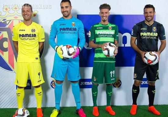 Villarreal CF 2016 2017 Joma Home, Away and Third Football Kit, Soccer Jersey, Shirt, Camiseta de Futbol, Equipacion, Playera