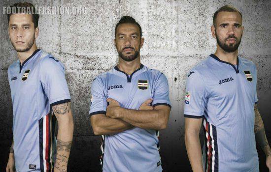 Sampdoria 2016 2017 Joma Home, Away and Third Football Kit, Soccer Jersey, Shirt, Maglia, Gara, Camiseta, Camisa