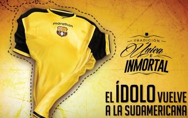 Barcelona SC 2016 Copa Sudamericana Marathon Home and Away Soccer Jersey, Football Shirt, Kit, Camiseta de Futbol, Equipacion