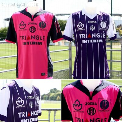 Toulouse FC 2016 2017 Joma Home and Away Football Kit, Soccer Jersey, Shirt, Maillot