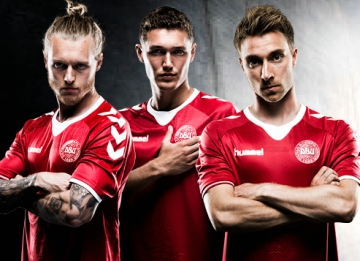 buy popular d484c 68d60 Denmark 2016/17 hummel Home and Away Kits - FOOTBALL FASHION.ORG