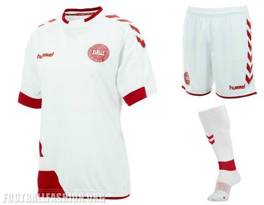Denmark Women's 2016 2017 hummel Home and Away Football Kit, Soccer Jersey, Shirt, danske kvindelandsholds hjemmetrøje