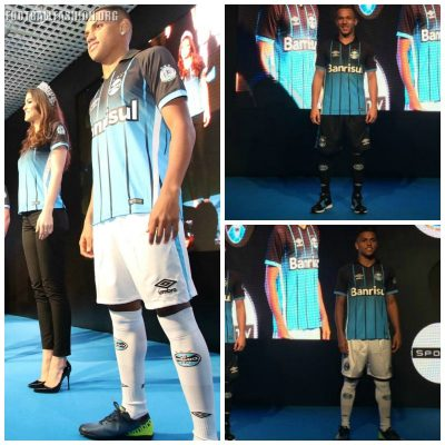 Grêmio 2016 2017 Umbro Third Football Kit, Soccer Jersey, Shirt, Camisa III