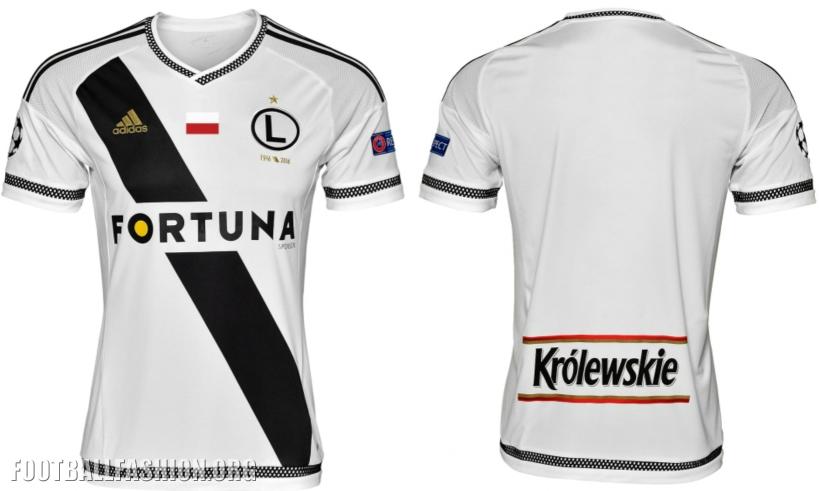 Legia Warsaw 2016 2017 adidas Homeand Away Football Kit, Soccer Jersey, Shirt, Koszulka Meczowa Champions League