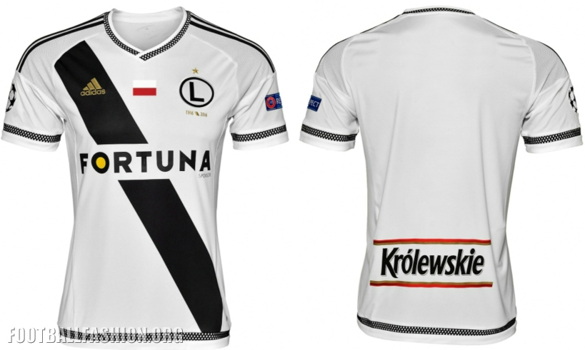 Legia Warsaw 2016 2017 adidas Homeand Away Football Kit, Soccer Jersey, Shirt, Koszulka Meczowa Champions League