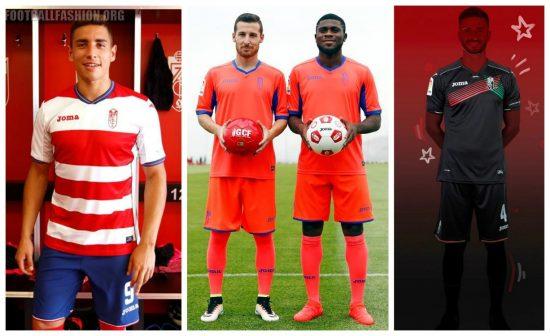 Granada CF 2016 2017 Joma Home, Away and Third Football Kit, Soccer Jersey, Shirt, Camiseta de Futbol, Equipacion
