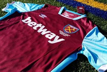 Up-Close: West Ham United 2016 2017 Umbro Home Soccer Jersey, Football Shirt, Kit, Maillot, Camiseta