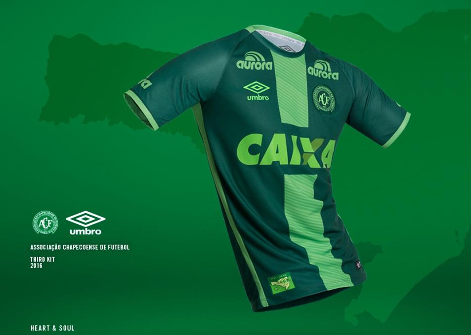 Umbro Brazil Chapecoense Soccer Football Shirt Jersey 2016