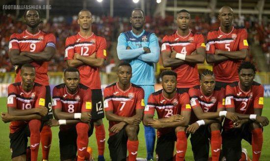 Trinidad and Tobago 2018 World Cup Qualifying Joma Home Football Kit, 2016 2017 Soccer Jersey, Shirt