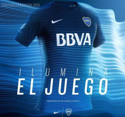 Boca Juniors 2016 2017 Nike Third Football Kit, Soccer Jersey, Shirt, Camiseta de Futbol, Equipacion, Playera Tercera