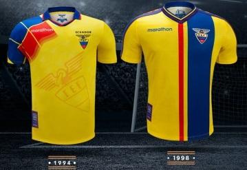 """Reissued: Ecuador """"Leyendas Por Siempre"""" (Legends Forever) 1994 to 2006 Home Football Kit, Soccer Jersey, Shirt, Camiseta de Futbol"""