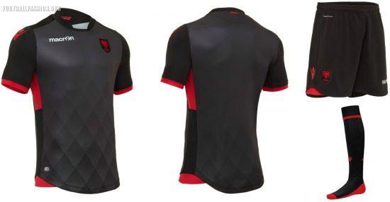 Albania 2017 2018 Macron Home, Away and Third Football Kit, Soccer Jersey, Shirt, Bluza, Uniforma