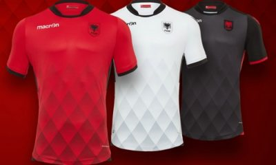 Albania 2017 2018 Macron Home, Away and Third Football Kit, Soccer Jersey, Shirt, Bluza, Uniforma