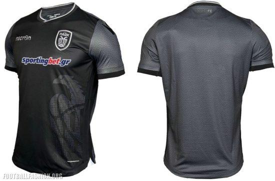 PAOK FC 2017 Limited Edition Macron Black Football Kit, Soccer Jersey, Shirt