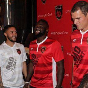 Phoenix Rising FC 2017 Umbro Home and Away Soccer Jersey, Football KIt, Shirt, Camiseta de Futbol