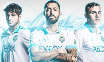 Seattle Sounders 2017 adidas Away Soccer Jersey, Football Kit, Shirt, Camiseta de Futbol