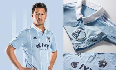 Sporting KC 2017 adidas Home Soccer Jersey, Football Shirt, Kit, Camiseta de Futbol